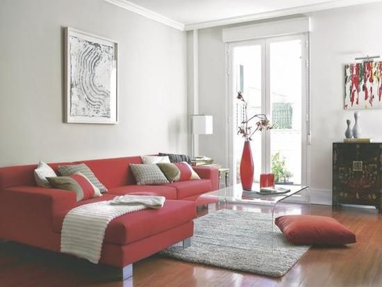 17 mejores ideas sobre sal n rojo en pinterest paredes - Salon con sofa rojo ...