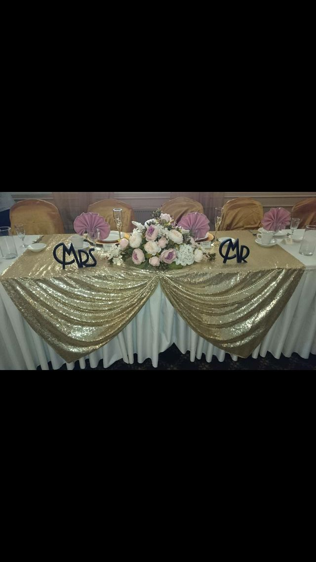 Head Table Art Deco Wedding Gatsby
