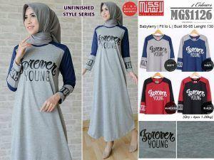 Baju Gamis Muslim Lengkap: grosir busana muslim xl MGS1126