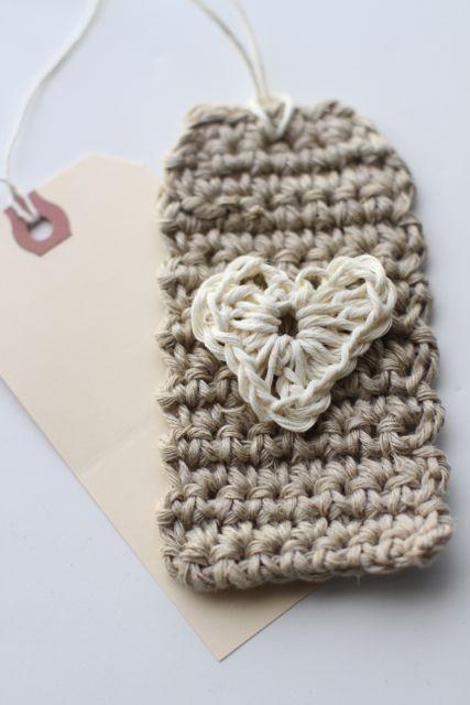 Crocheted Tag  Heart Tutorial