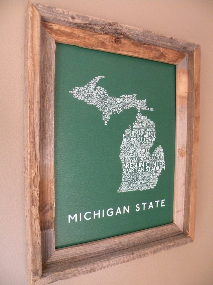 Michigan State University Word Map by fortheloveofmaps
