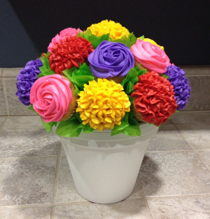 Colorful Cupcake Bouquet