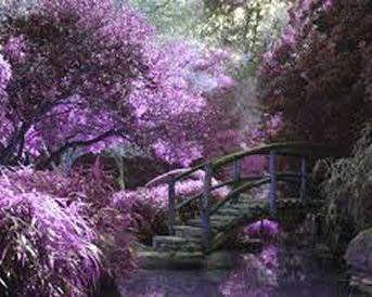 Spring Bridge Landscape Kreuzstichmuster