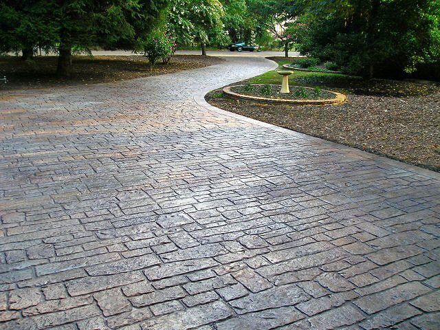 Stamped Concrete Random Cobblestone Driveway | by Ralph612