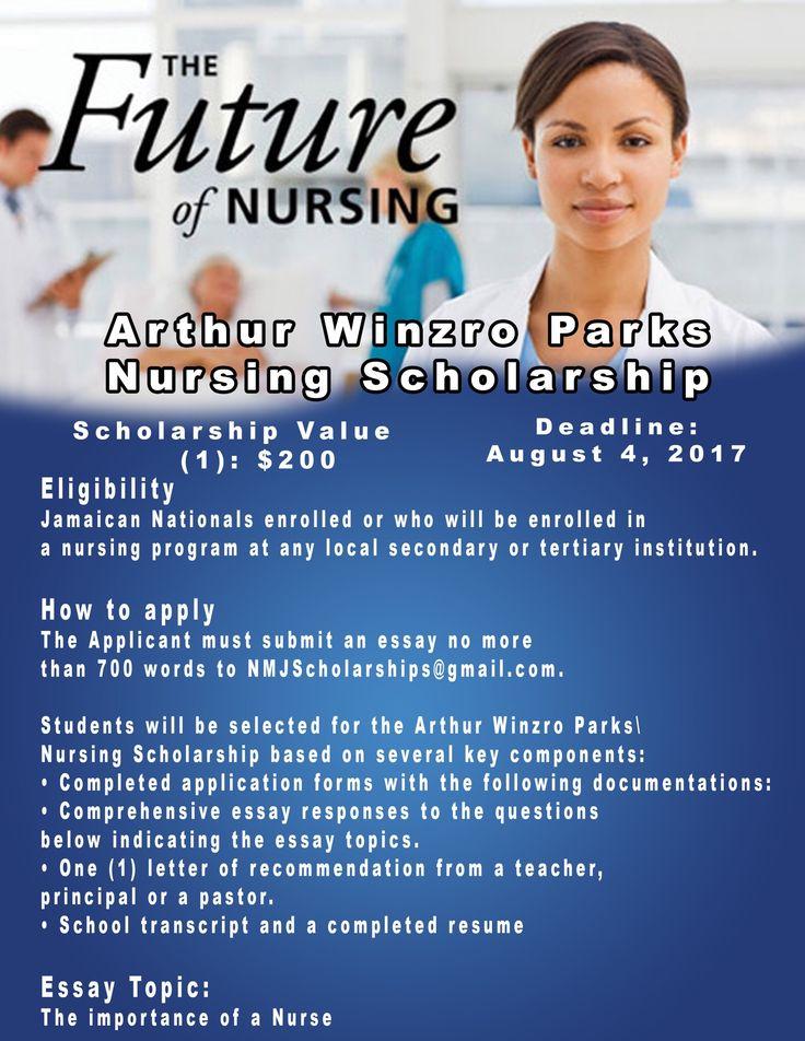 Apply for the Arthur Winston Parks Nursing Scholarship from @NMJScholarships. One award US$200, Deadline August 4.