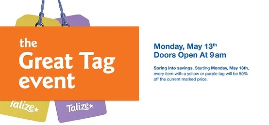 Get ready for our next 2-tag sale on Monday May 13th!