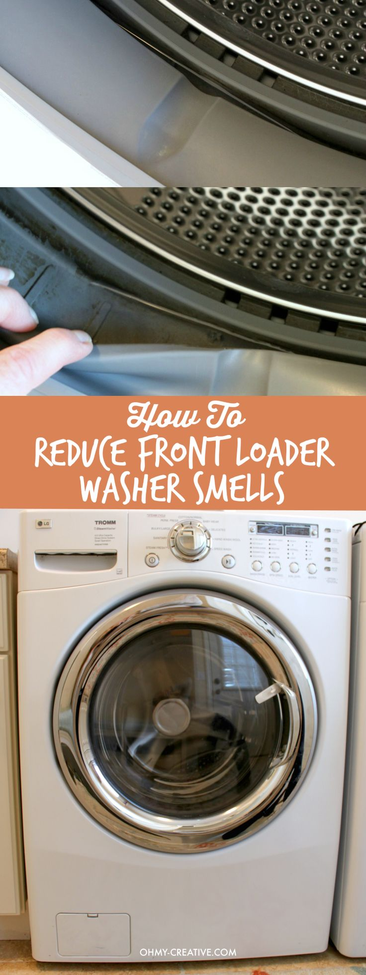 Great washers - awful mildew smell! See my simple tip on How To Reduce Front Loader Washer Smells  |  OHMY-CREATIVE.COM