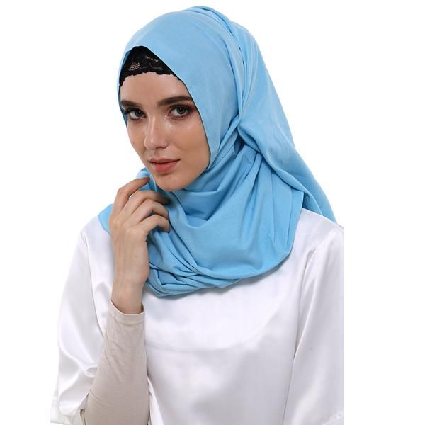 Jilbab | Hijab - Zada Pashmina Polos Cassanova - Biru Muda