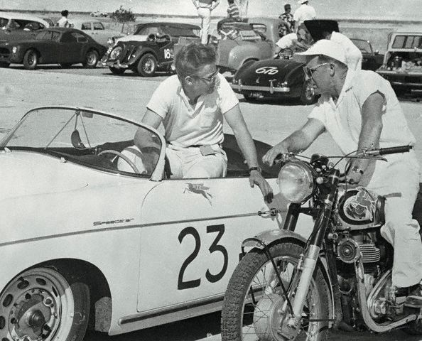 Jimmy Dean at the club races.