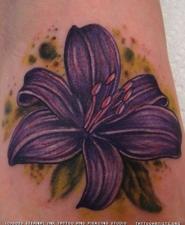 Purple Flower Tattoo Artists Org
