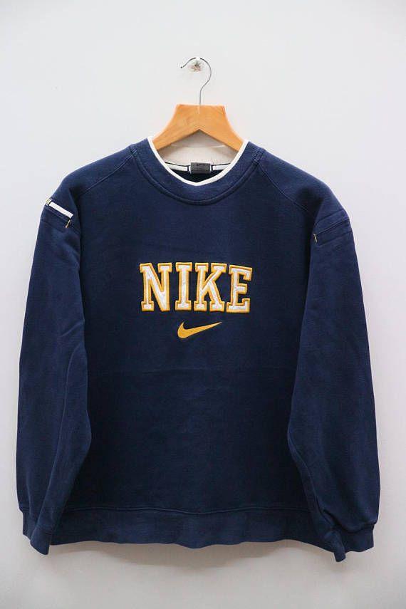 Vintage NIKE Big Logo Sportswear Blue Sweater Sweatshirt Size  23510cf29