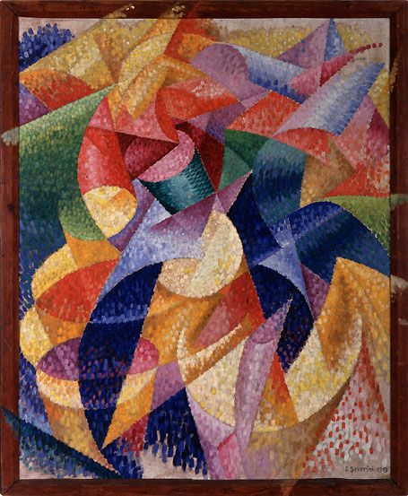 Gino  Severini      Sea=Dancer (Mare=Ballerina), January 1914 Oil on canvas, 105.3 x 85.9 cm, including artist's painted frame Peggy Guggenheim Collection, Venice 76.2553 PG 32 © Gino Severini, by SIAE 2008