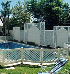 Pool Deck Fencing Ideas above ground aluminium swimming pool fence source poolsswimmingsnet Find This Pin And More On Pool Fencing Ideas