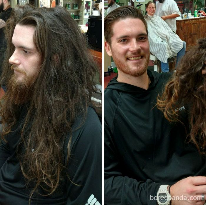 Do You Still Think A Haircut Doesn T Make A Difference Haircuts For Men Long To Short Hair Mens Haircuts Short