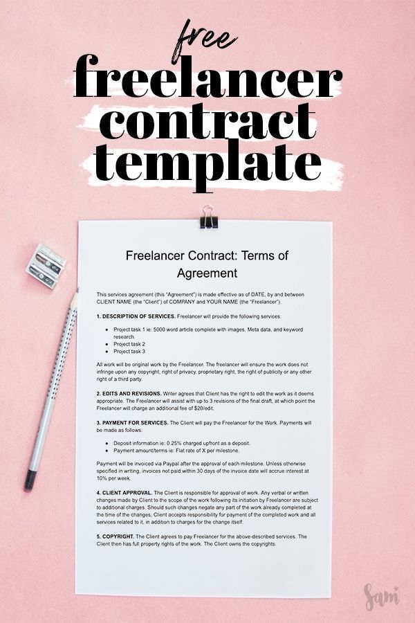 Freelancing Contract Template Free And Customizable Samanthability Freelance Marketing Contract Template Freelance Business Plan