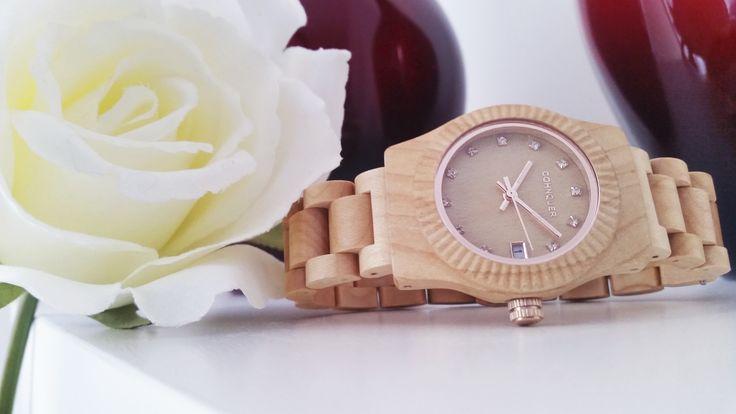 Reloj de Madera Cohnquer Serenity Maple para chica. Siente la comodidad y el peso liviano de la madera. #moda #reloj #relojdemadera #modamujer