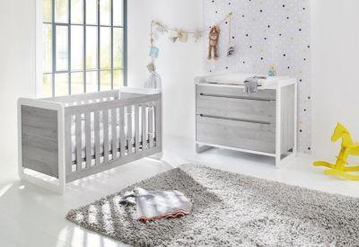 Sparset Curve Kinderbett Und Wickelkommode Esche Grau Gr 70 X