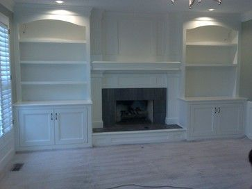 What is the cost for custom built in bookshelves around a fireplace?
