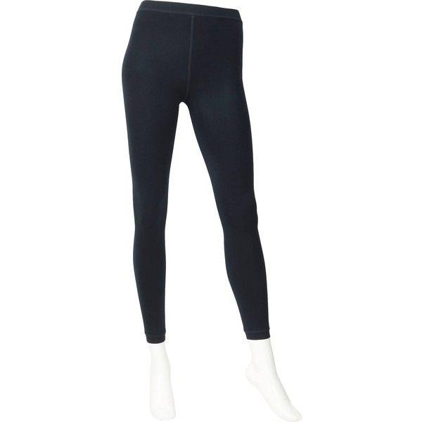 UNIQLO Women Heattech Faux Shearling Leggings ($15) ❤ liked on Polyvore featuring pants, leggings, white trousers, lined white pants, lining pants, lined trousers и lined leggings
