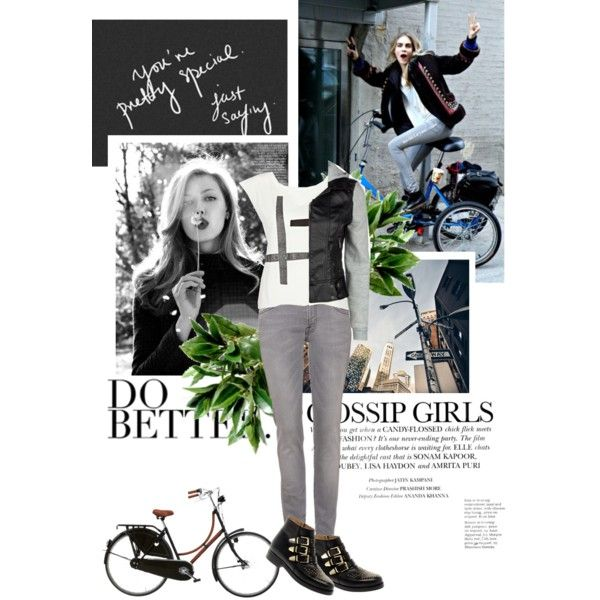 I just ride by spicy-xox on Polyvore featuring moda, River Island, Full Tilt, 7 For All Mankind, ASOS, Hermès, Børn, skinny jeans and biker boots
