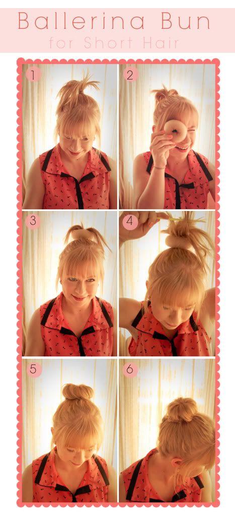 how to make a ballet bun short hair