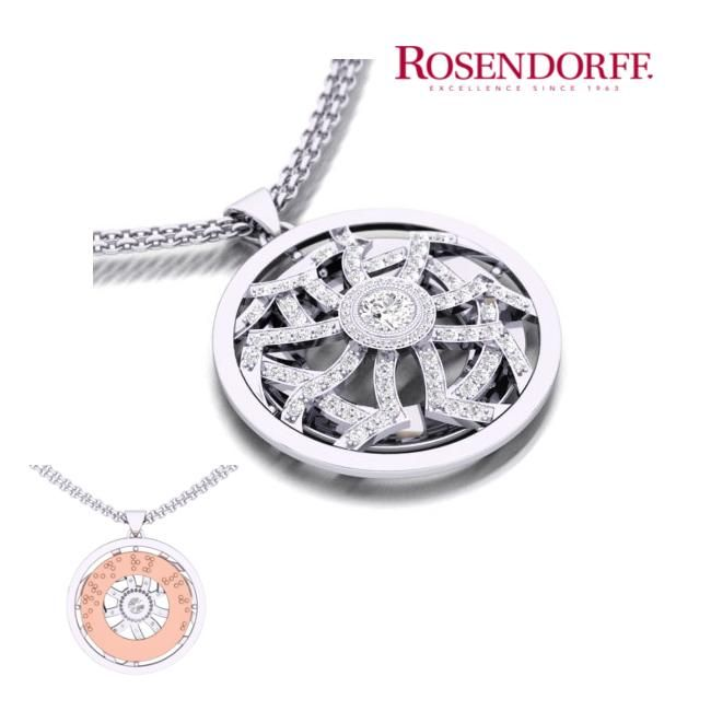 Rosendorff has donated this magnificent piece to celebrate the Centenary of The Association Of The Blind. 1.43 carats of diamonds hand selected by Mr Craig Rosendorff, handcrafted in 18ct white and rose gold by Rosendorff master craftsmen in Rosendorffs boutique manufacturing workshop.