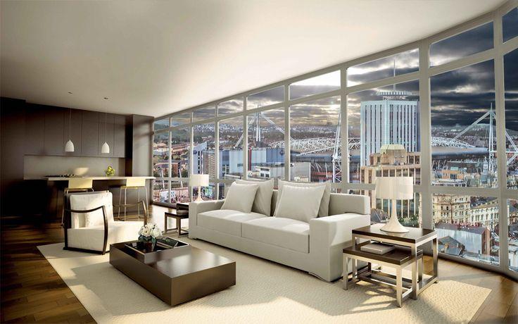 64 best Luxury Apartments images on Pinterest   Living room ideas ...