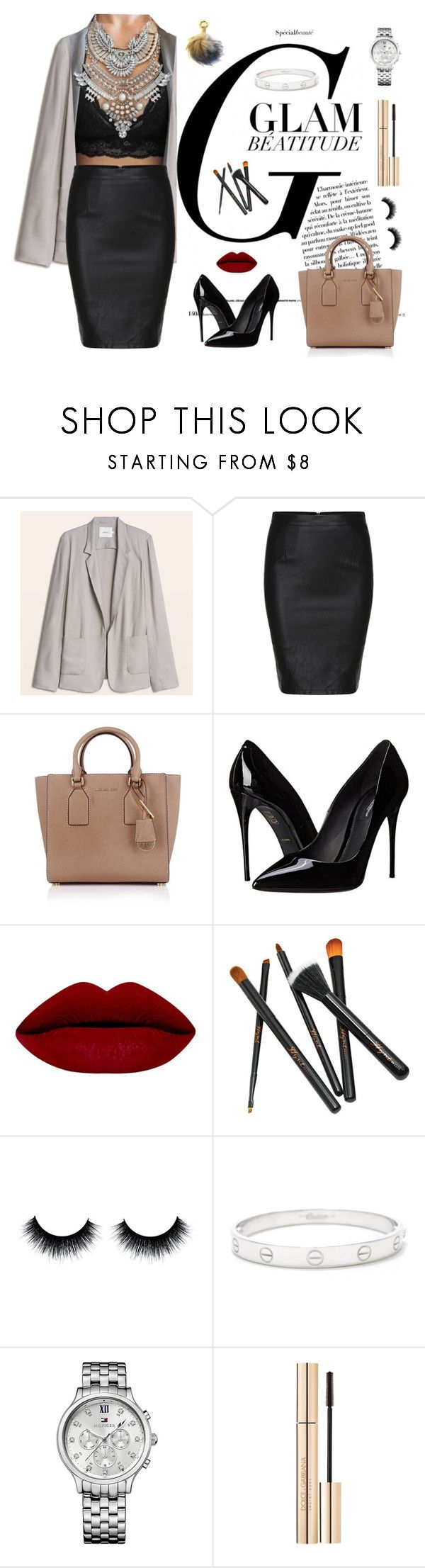 """""""Business glam including two of my own products from styleloft.dk"""" by shop-styleloft on Polyvore featuring Michael Kors, Dolce&Gabbana, Cartier and Tommy Hilfiger"""