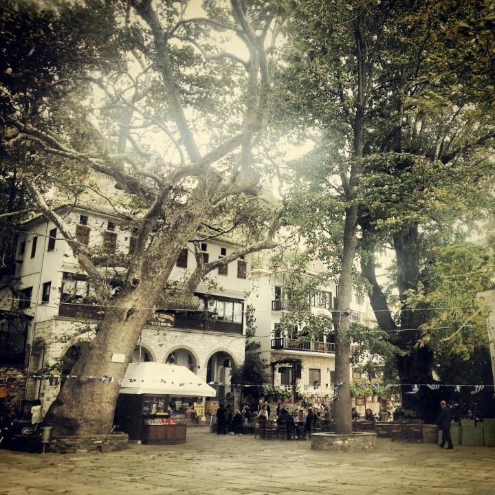 Central square of Makrinitsa,Pilion,Greece