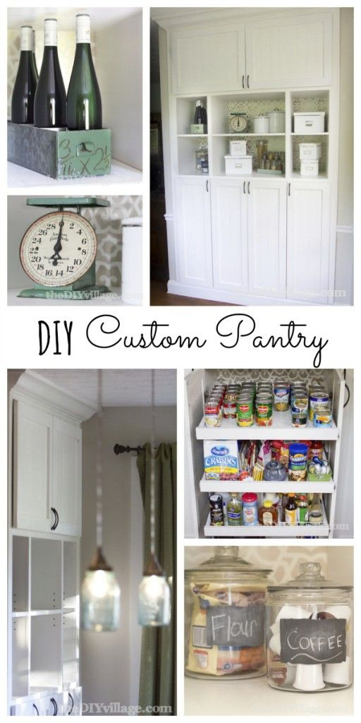 DIY Custom Pantry Makeover. Say good-bye to the builder grade bi-fold pantry forever! #kitchen #pantry #makeover
