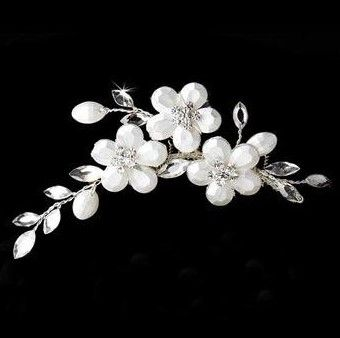"""Peigne avec fleurs en cristaux Swarovski """"Flora"""""""