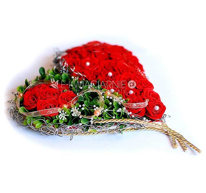 Gorące serce na zbliżające się WALENTYNKI dla Ukochanej osoby.  Utwórz konto na E-KWIACIARNIE.PL i sprzedawaj tam swoje produkty :)  Praca stworzona przez Pracownię Florystyczną De Florist.