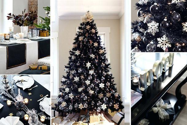 Albero Di Natale Nero.Pin Su Idee Per Natale Christmas