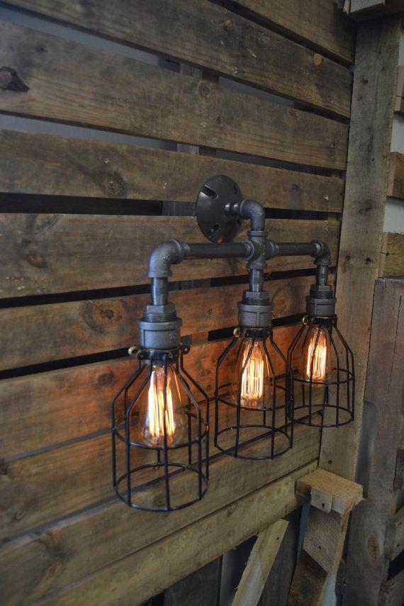 Vanité lumière Edison lumière salle de bain par WestNinthVintage