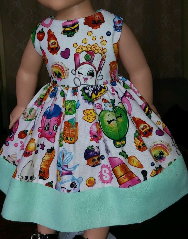 "Doll Clothes-Handmade-American Girl Dolls-Fits18""-Shopkins and Spearmint Dress…"