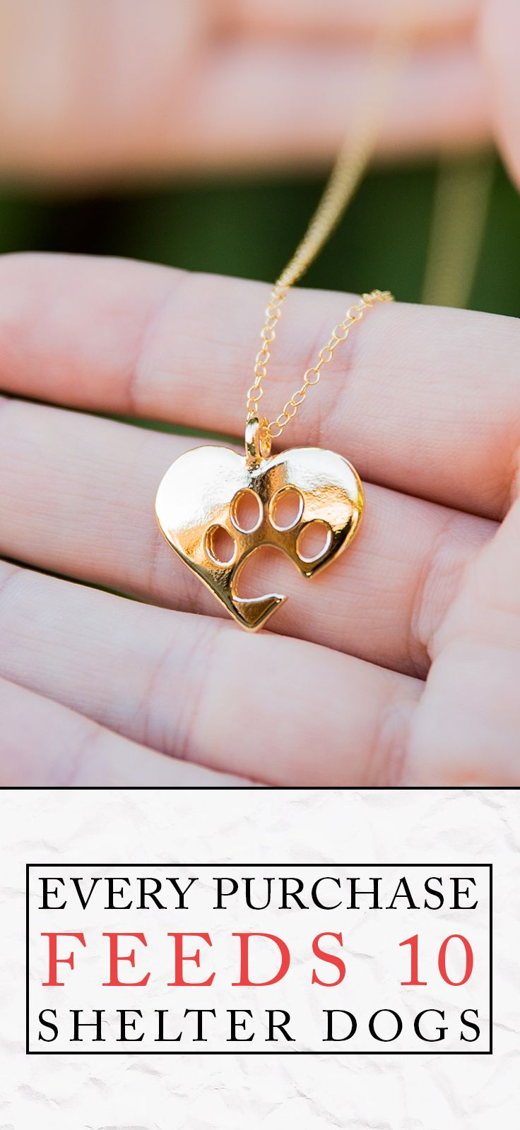 Would you wear this? Comment below! ▬▬►Every purchase feeds 7 shelter dogs! Paw necklace