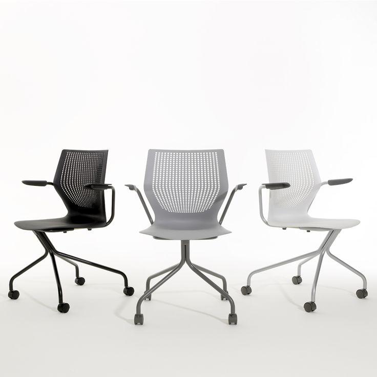 MultiGeneration By KnollR Hybrid Base Ergonomic Side Chair