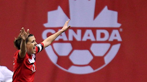 An Olympic medal would put an exclamation point on a storied soccer career of Canadian captain Christine Sinclair. (Jonathan Hayward/Canadian Press)