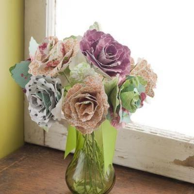 So pretty!: Teacher Appreciation, Crafts Ideas, Bouquets Cutters, Paper Flower Bouquets, Design Cards, Handmade Flowers, Flowers Tutorials, Handmade Paper, Paper Flowers Bouquets