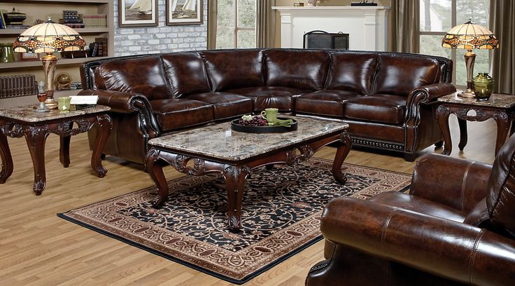 Rooms To Go Warrick Leather Sectional