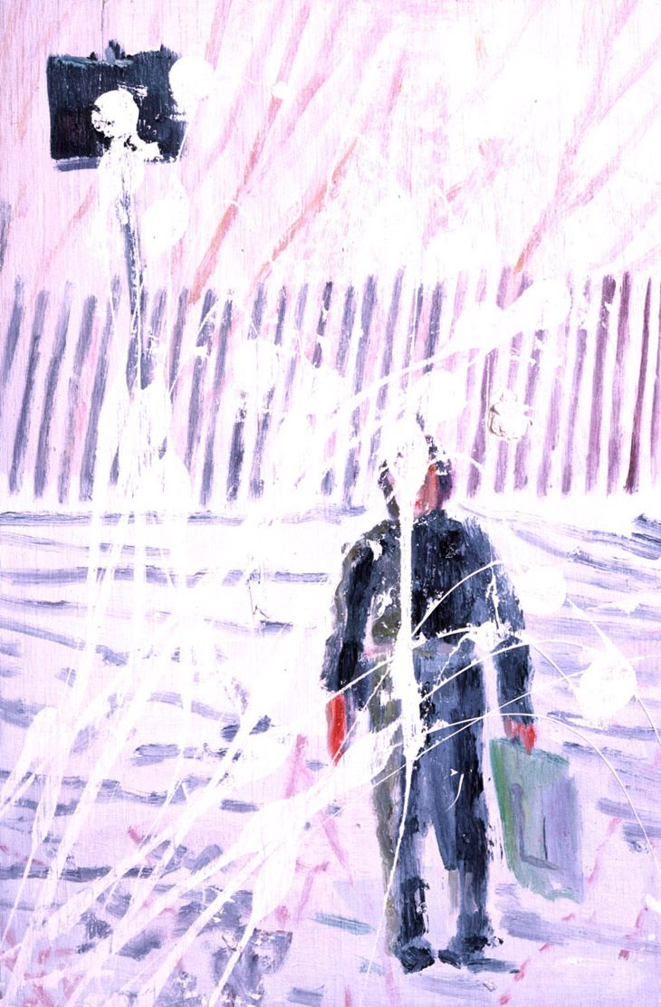 """""""Snowballed Boy"""" by Peter Doig"""