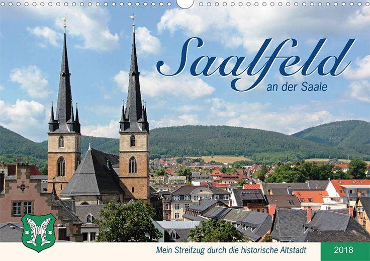 """Städte- und Regionalkalender """"Saalfeld an der Saale – mein Streifzug durch die historische Altstadt"""", Kalenderblatt Cover"""