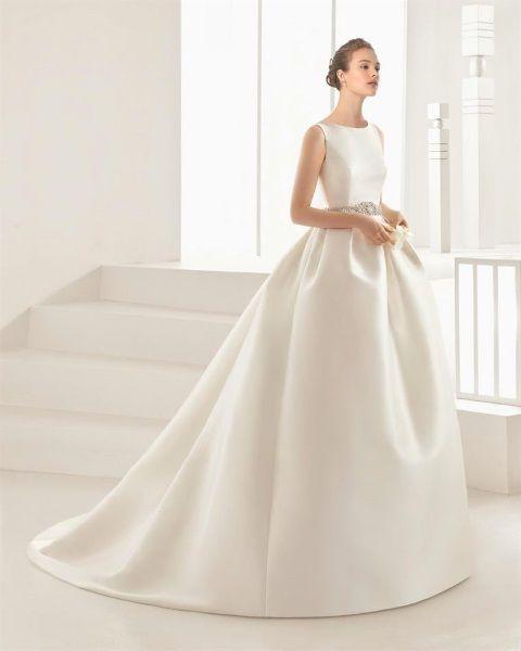 Vestidos de novia en rosa clara