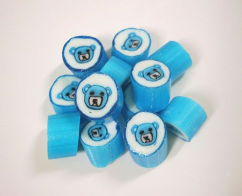Blue Teddy Bear Christening Baptism Rock Candy. Affordable - buy in bulk