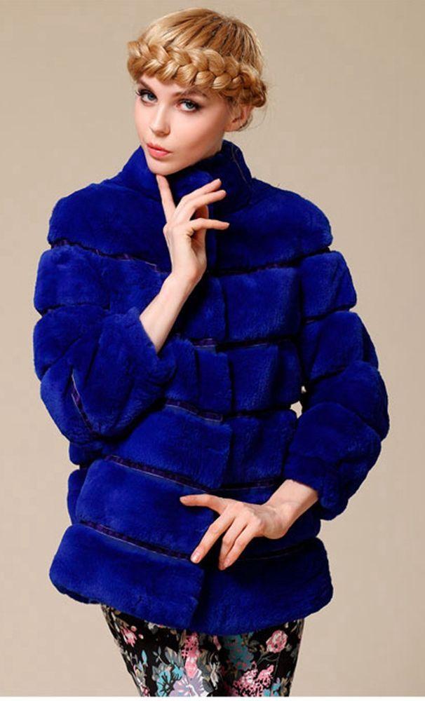 New Real 100% Rex Rabbit Fur    Women Coat Jacket Overcoat Garment  #AuMountian #BasicJacket