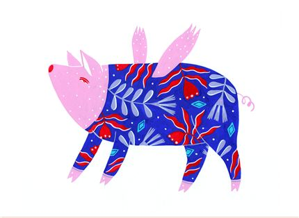 A fine art print entitled Folk Porc by Madalina Andronic!