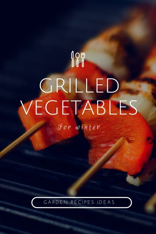 Grilled vegetables. Garden recipes ideas for winter