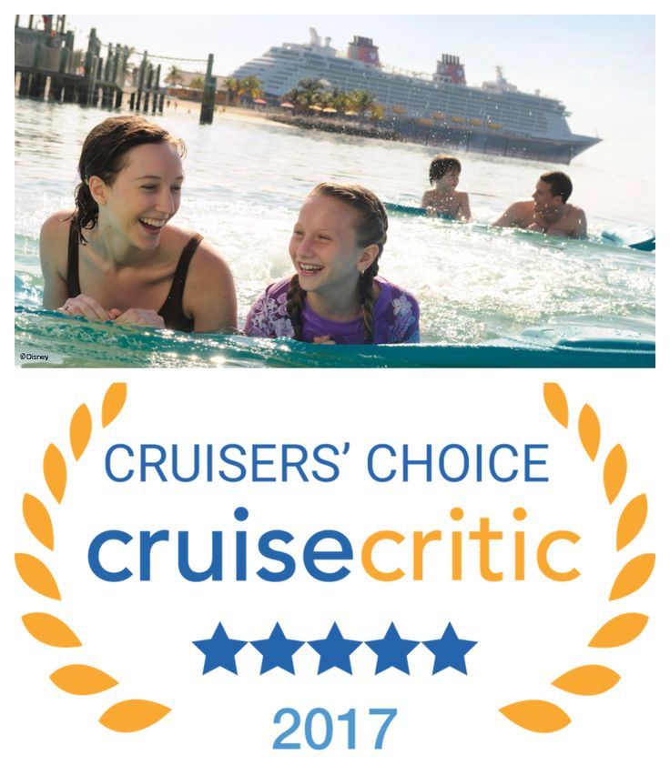 For the second year in a row, Disney Castaway Cay has been named the Top Cruise Line Private Island in the annual Cruise Critic Cruisers' Choice Destination Awards.