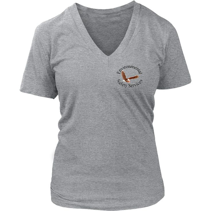ESS District Women V neck Branded Tee