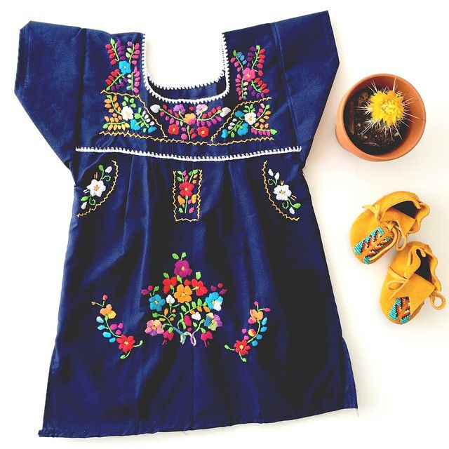 a9cfb07c5c Bright Colored Mexican Peasant Dress For Little Girls   Gunn   Swain - plus  a matching one for mamas!